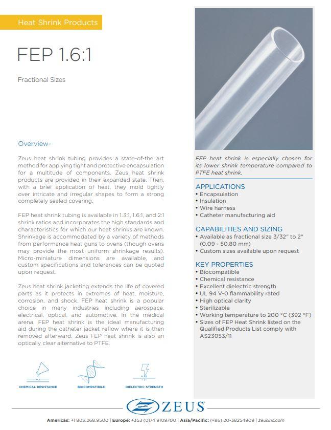 FEP 1.6:1 Heat Shrink