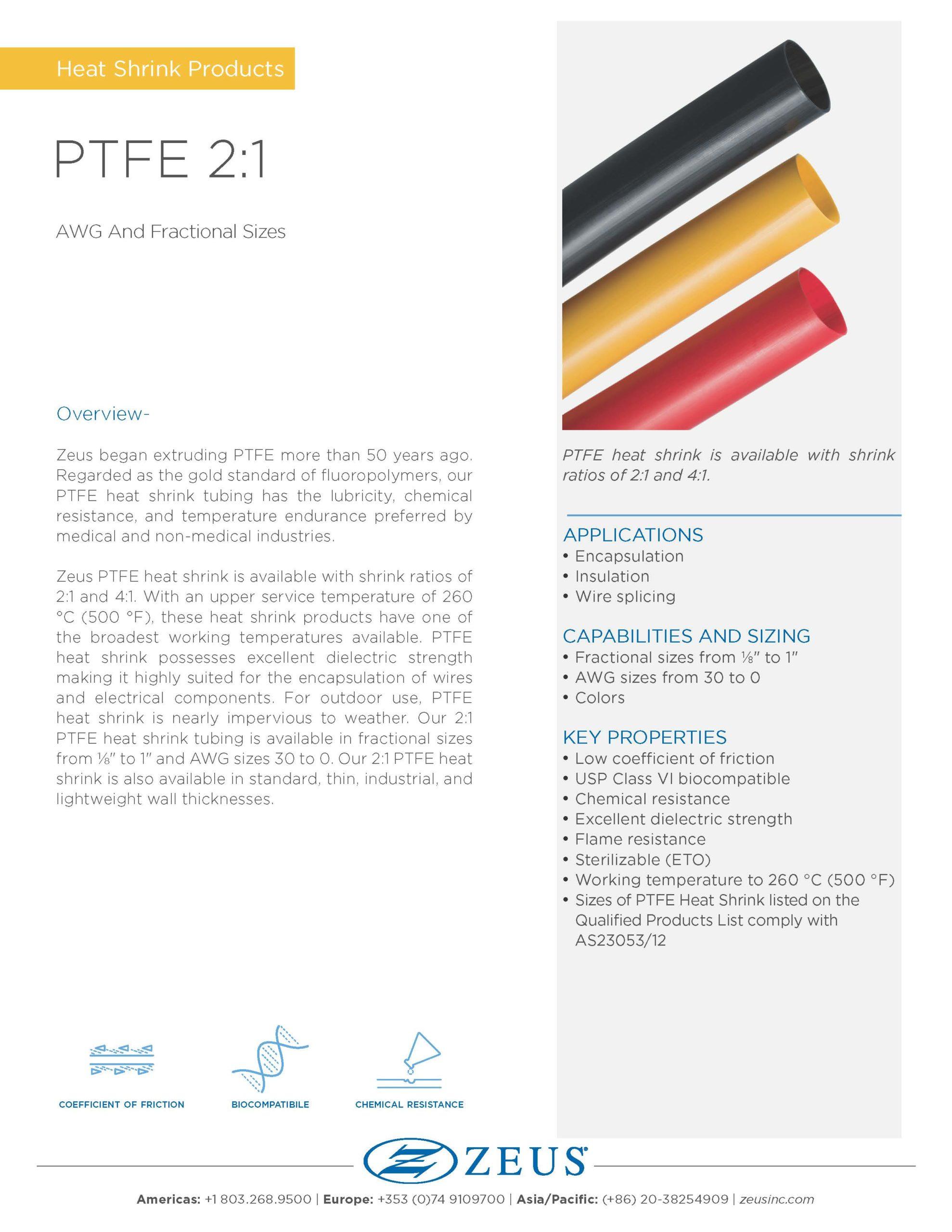 PTFE 21 Heat Shrink